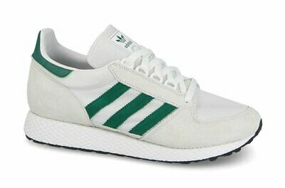 ADIDAS ORIGINALS MENS FOREST GROVE TRAINERS WHITE/GREEN ALL SIZES 7.5 TO 9.5 £70