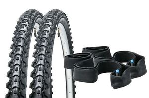 Pair of 26x1.95 Mountain Bike Tyres with Inner Tubes - Raleigh Eiger RRP £39.95