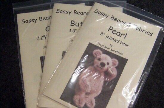 Sassy Bears Faux Mohair 4mm Pile Mini Bear Fabric Fat 1//4 yard piece
