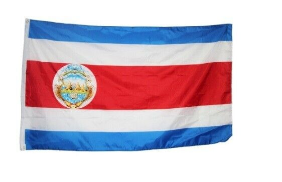 The flag of Costa Rica, Central America 3 X 5 ft BRAND NEW !