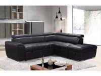 Nevada Sofa Bed – Black (Bonded Pu)