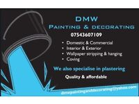 DMW Painting & Decorating - 20+ years painter,decorator and plastering and free quotes