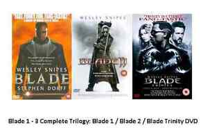 BLADE TRILOGY DVD SET TRIPLE PACK PART 1 2 3 TRINITY HORROR WESLEY SNIPES New UK
