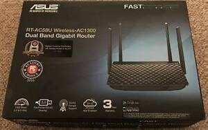 ASUS RT-AC58U AC1300 MU-MIMO Dual Band Gigabit Router. NBN ready. Wattle Grove Liverpool Area Preview