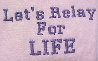Let's Relay for Life Sweatshirt Purple Breast Cancer Pink Crew Unisex 5XL New