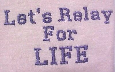 Let's Relay for Life Purple Breast Cancer Pink Crew Sweatshirt Unisex 4X New