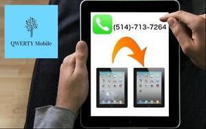 Réparation iPad / remplacement de la vitre / air / mini 1-2  / 2-3-4 80$ tout inclus @ Laval #1