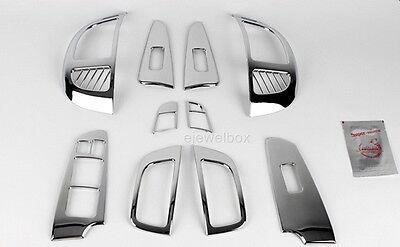 Chrome Interior Cover Molding Trim for 2010 - 2012 Kia Forte 4/5Door w/Tracking
