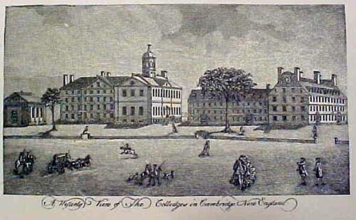 Original Harvard Engraving, c. 1830: Great Gift for Students, Graduates, Parents