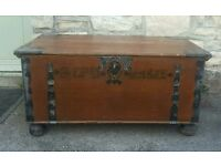 One off antique trunk