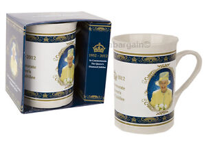 ROYAL DIAMOND JUBILEE QUEEN ELIZABETH II SOUVENIR CERAMIC MUG DISHWASHER SAFE