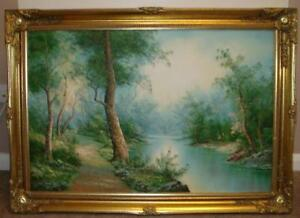 7a3994789544 Large Framed Oil Painting