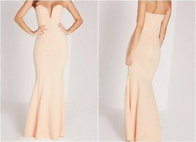 MISSGUIDED Low Back Maxi Dress in Nude camg131