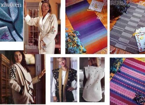 Handwoven magazine jan/feb 1997: vest, jacket, cashmere coat w/Celtic knot, rugs