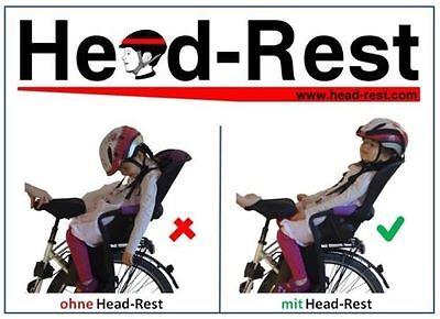 NEUHEIT! Römer Jockey Comfort Relax Fahrradsitz Helm Stütze Kopfhalterung NEU!