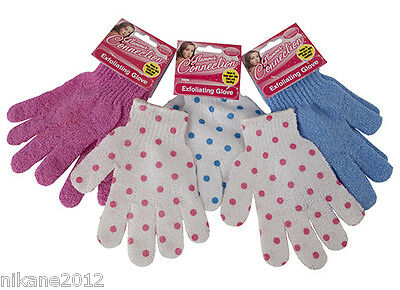 exfoliating gloves bath shower wash skin soother new glamour connection