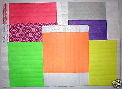 Wholesale Lot 100 Tyvek Wristbands Wrist Bands Club Party Events Pulseras New