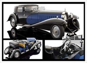 1930 BUGATTI ROYALE COUPE DE VILLE TYPE 41 BLUE 1/18 BAUER