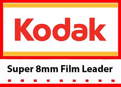 Kodak Super 8 Mm Film - Kodak Super 8mm White/Grey Movie Film Leader 50ft reel (LOWEST PRICE!)
