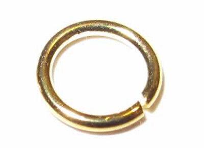 925er Silber. Vergoldet - Spaltringe 6x0,8mm. 10 Stück.
