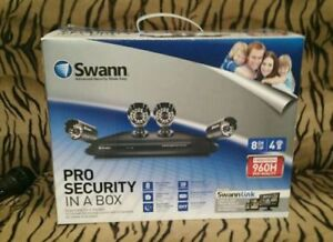Swann 8-Channel 720A 500GB DVR with 4 720P White Bullet Cameras