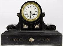 Japy Frères Black Slate Mantle Clock ( very good condition) Thornbury Darebin Area Preview