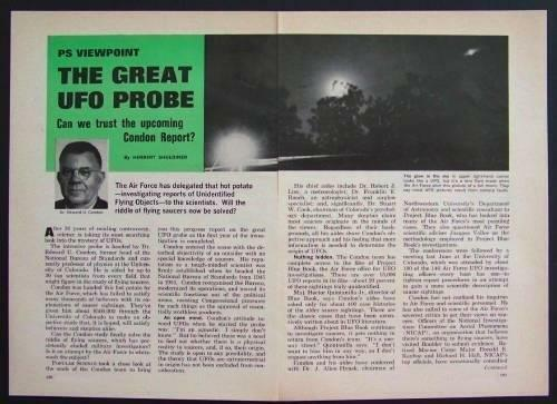 UFO 1967 vintage article Can We Trust the Condon Report
