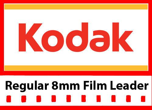 Kodak Regular 8mm White/Grey Film Leader 50 ft Reel