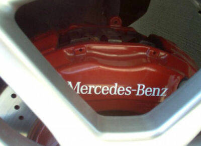 4x Mercedes Benz Bremssattel Aufkleber Sticker Weiss C63 A45 CLA45 C43 A35