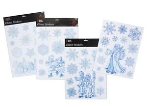 12-Christmas-Glitter-Window-Stickers-1-Large-11-Snowflakes-Santa-Design-PM26