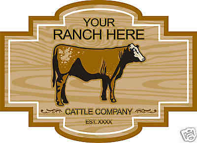 "Cow Bull Cattle Farm Ranch Trailer Vinyl Sign Decal 24"""