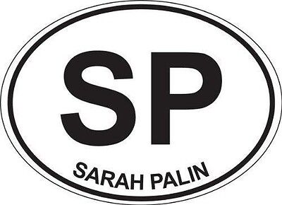 Sarah Palin Oval; Oval Shaped Bumper