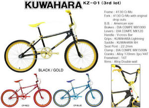 Kuwahara KZ-01 Reissue BMX Black/Gold (New In Box) Old School Southern River Gosnells Area Preview