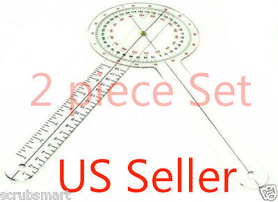 New 2 - 12 Inch Goniometer Physical Therapy - 2 Piece Lot - Us Seller
