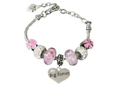 Big Sister Bracelet, Sister Jewelry, Sister Charm Bracelet - Gift for Sisters