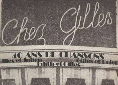 GILLLES JULIEN EDITH ULFER CHEZ disco LP 33 giri MADE in FRANCE comprar usado  Enviando para Brazil