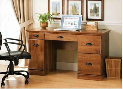 Desk Home Purpose Executive Furniture Oak Finish Computer Laptop Table Dorm Desks