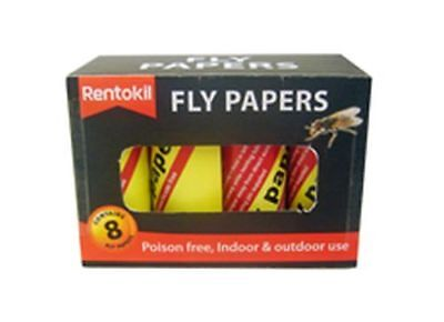 Rentokil Fly Papers - 12 X 8 PACK  [FF89]