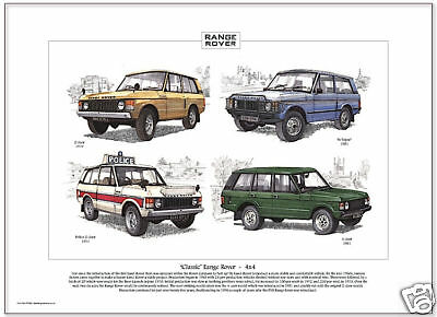 'CLASSIC' RANGE ROVER - 4x4 - Fine Art Print - In Vogue