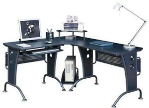 Charmant Black Office Corner Desk