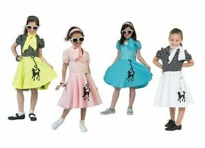 50s Pudel Mädchen Kostüm Rock n Roll Kinder - Pudel Rock Kleid