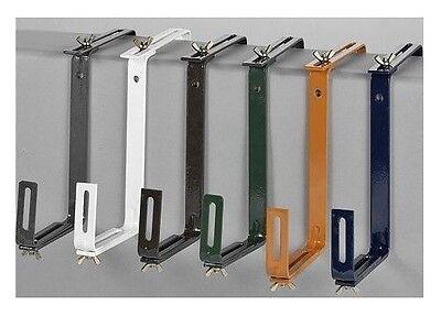 2x Balkonkastenhalter Balkonkastenhalterung weiß Balkonkasten Blumenkastenhalter
