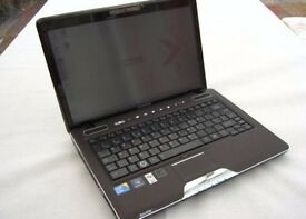 Toshiba Satellite U500 Touchscreen laptop 750gb hard drive Touch screen