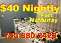 ($40) Nightly ---- ($220) Weekly Bring Your Suitcase 7808802428