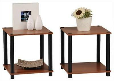 Momentum Furnishings Cherry With Black Accents End Table Set - 2 Piece ()