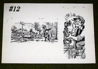 Original 1940 Reading Eagle Times Newspaper Illustrated Art  By Gensler  12