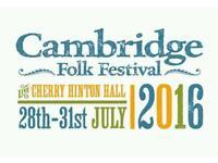 Cambridge Folk Festival Tickets x 2