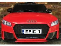 Kids Licensed Audi TT RS Sports Car with Remote Control 12v Electric / Battery Ride on Car - Red