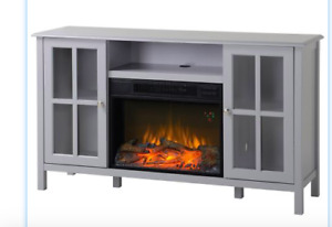 Contemporary ELECTRIC FIREPLACE AND TV MEDIA UNIT