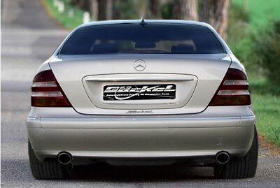 Mercedes S- Klasse W220 Auspuff  Sport Sportauspuff links-rechts C